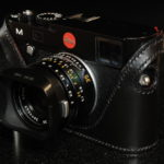 Leica M240 and M246 Camera case in black leather