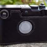 Leica M-D Camera Case on the camera in black leather - made by classic cases